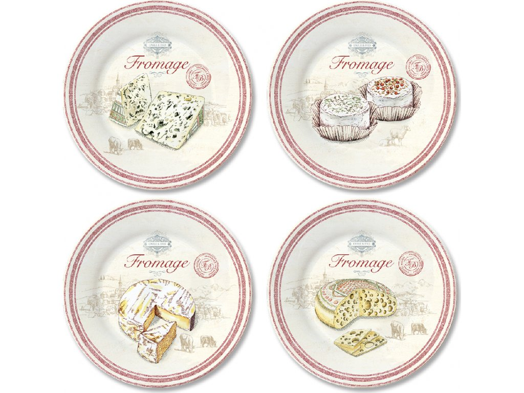 Porcelánové talíře na sýry Fromage
