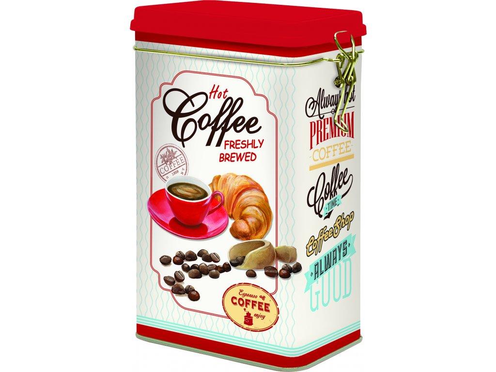 Plechová dóza na kávu Hot Coffee