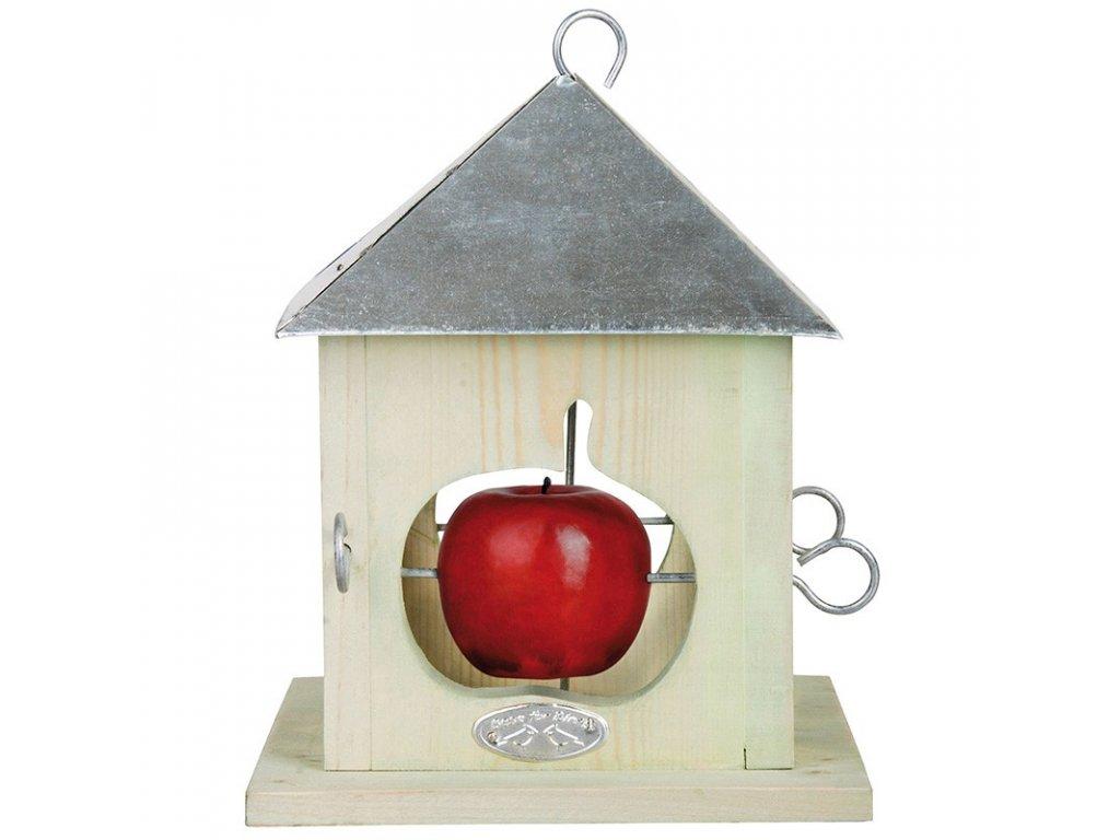 Krmítko pro ptáky na 4 jablíčka 18x18x23cm