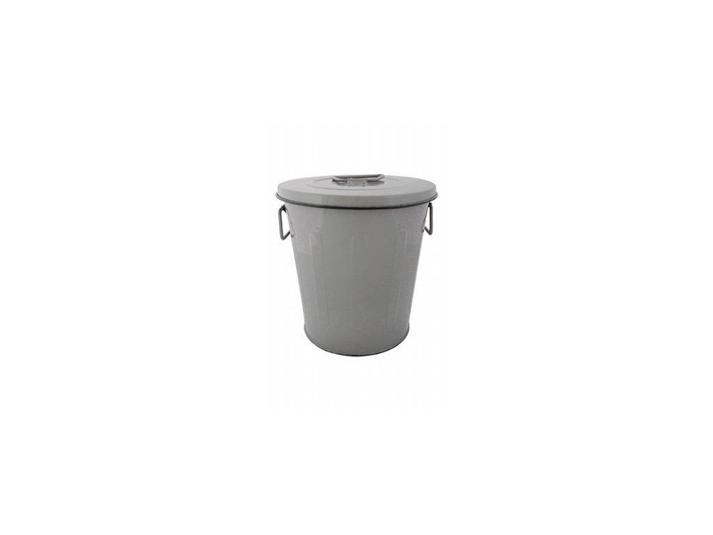 Kyblík s víkem šedý 23,7x23,7x24,5cm