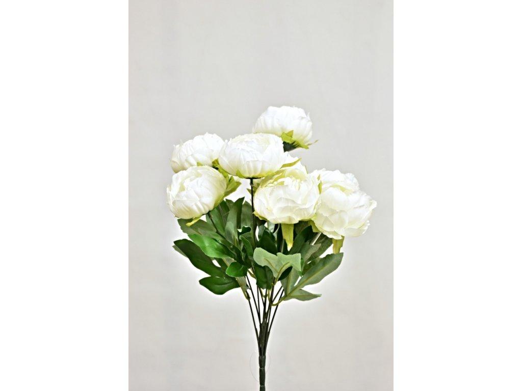 Umělá kytice pivoňěk 50 cm, bílá