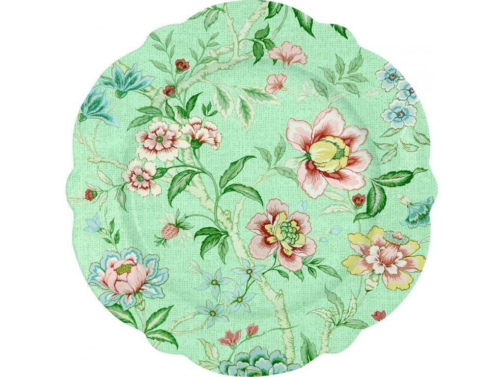 Porcelánový dezertní talíř Zen Garden Green
