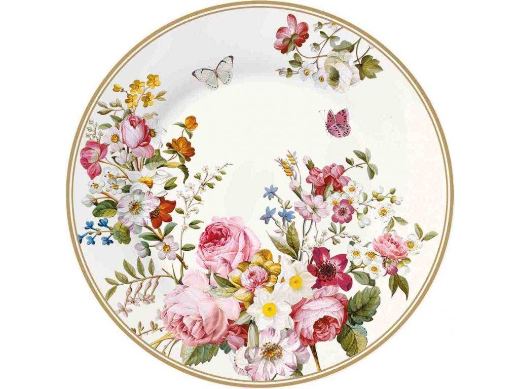 Porcelánový dezertní talířek Blooming Opulence Cream