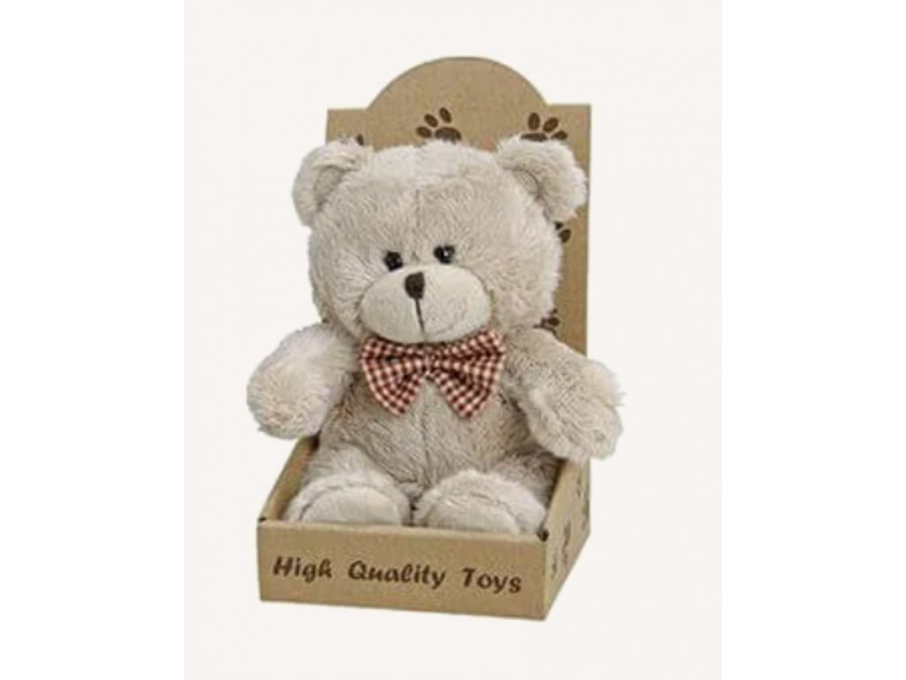Plyšový medvěd 16 cm, krémový