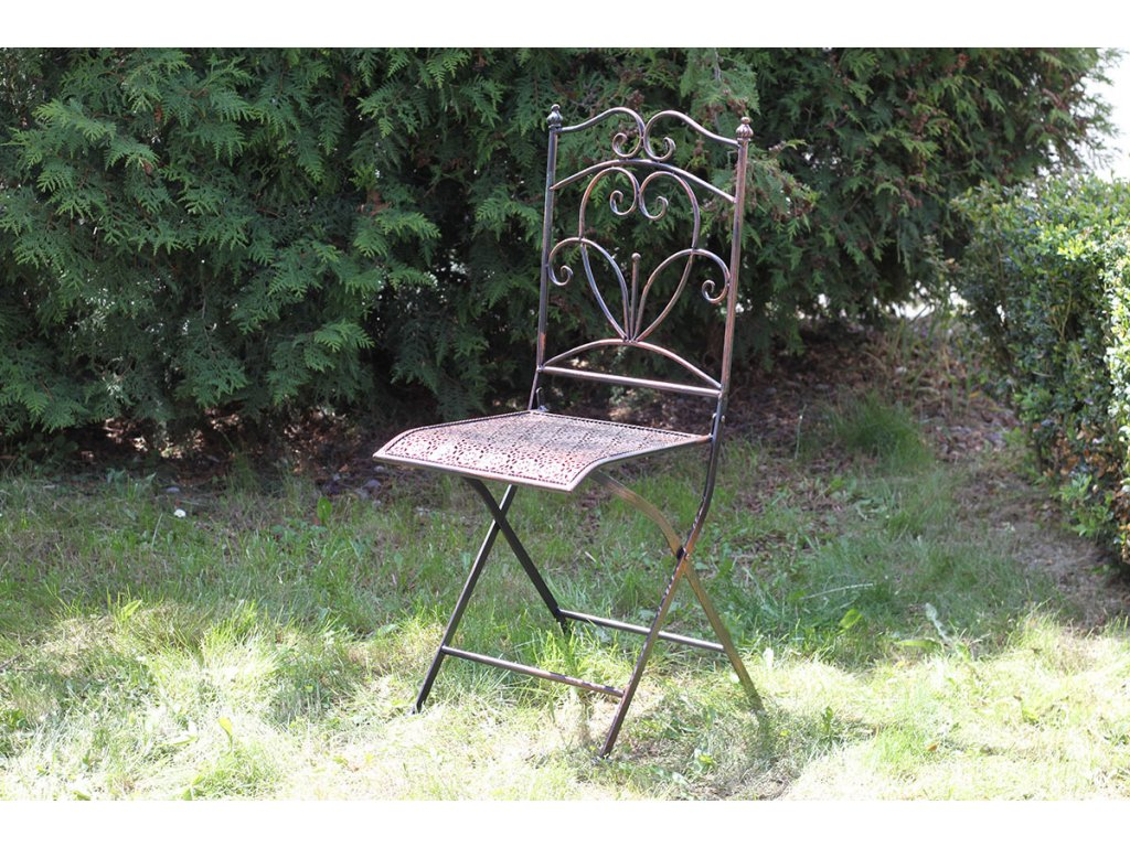 Židle kovová, barva černá