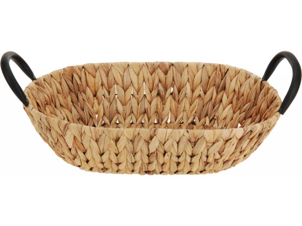 Pletený košík z vodního hyacintu 8x35x25 cm