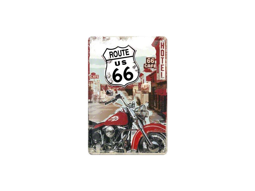 Plechová cedule US Route 66 Hotel