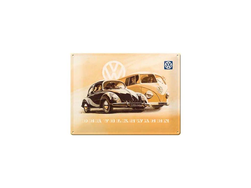 Plechová cedule Der Volkswagen 30x40cm