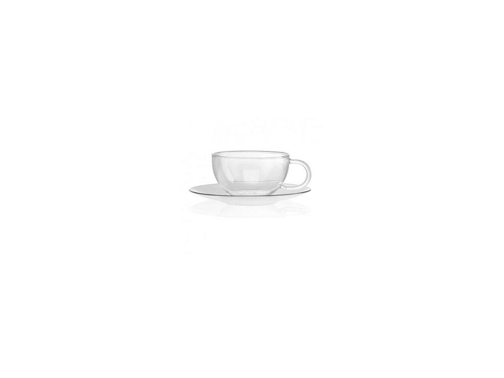 Skleněný hrnek s talířkem | Jumbo | La Cafetiére | 330ml