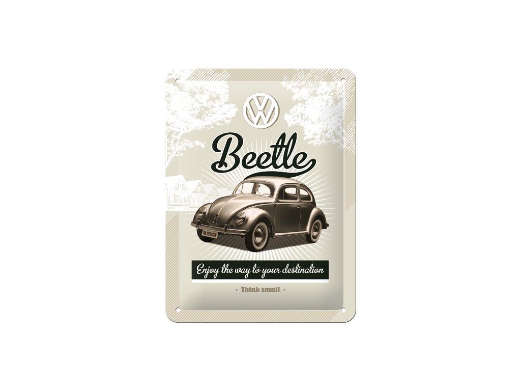 Plechová cedule VW Beetle