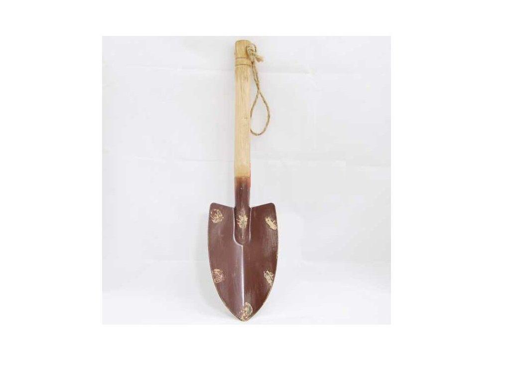 Lopatka s dřevěnou rukojetí | 38x10cm