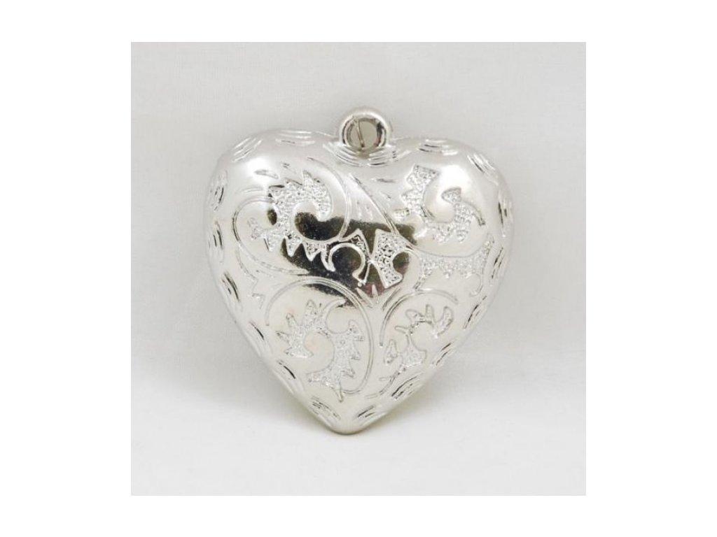 Srdíčko kovové | na pověšení | 5x5cm