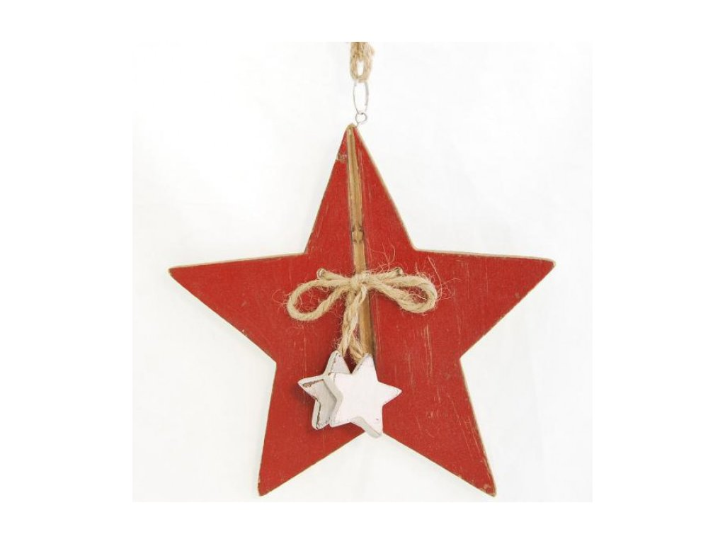 Hvězda dřevěná 18,5x18,5x1cm