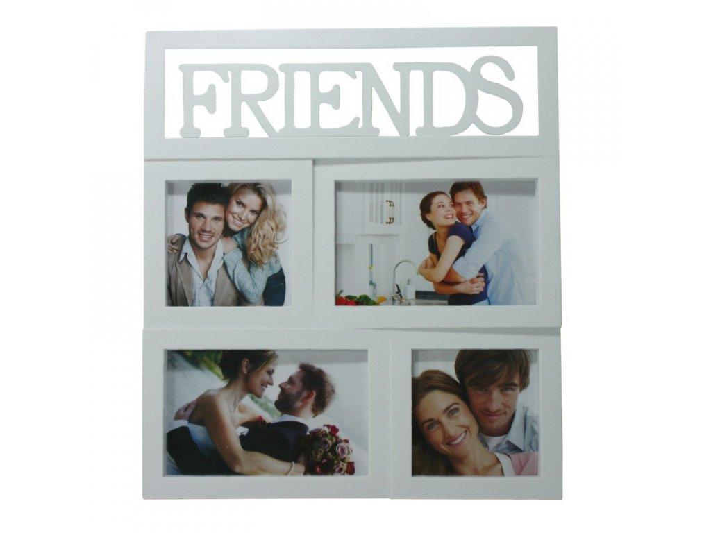 Fotorámeček Friends na 4 foto 31x28x2,5cm