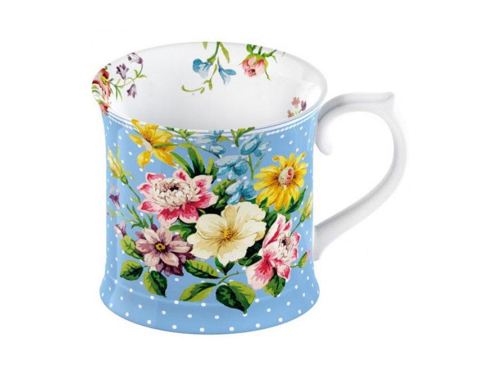 Hrnek ENGLISH GARDEN | porcelán | modrý | 10x10x9cm