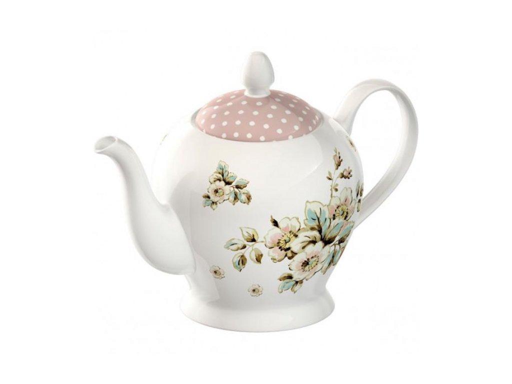 45023 konvicka cottage flower porcelan 19x14x16cm