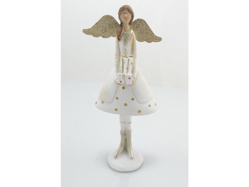 Anděl s dárečkem 17x7x4cm