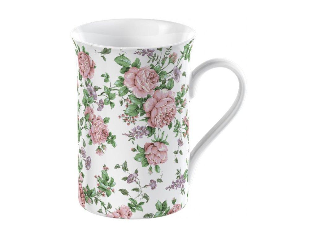 Hrnek porcelánový Pink Ditsy 235 ml 9x12x9cm