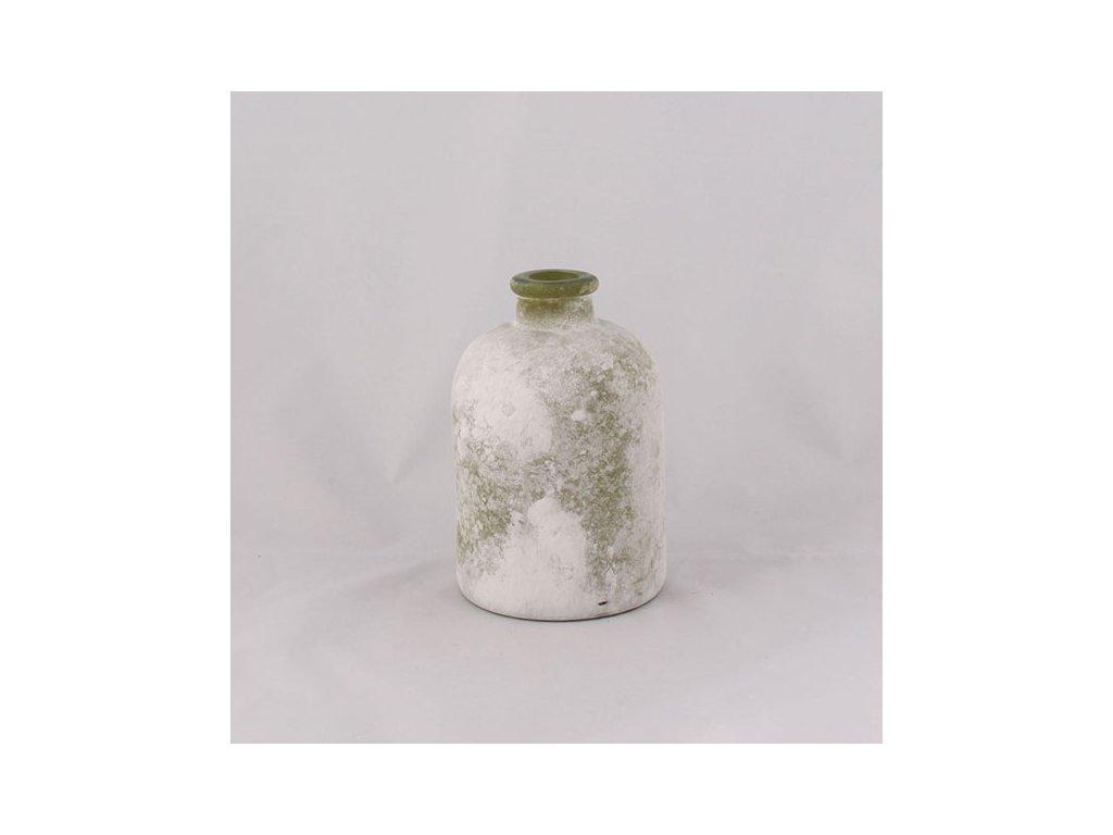 Skleněná váza s patinou