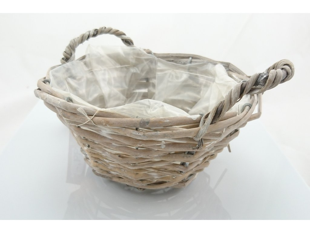 xidra50389a proutěný košík s uchy, poslední 5ks, nákup 56, prodej 99kc, arozměry 21x14cm