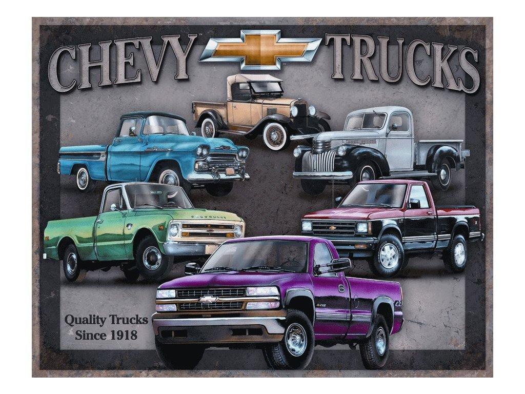 Plechová cedule Chevy Trucks