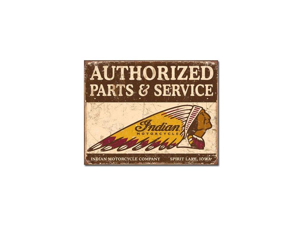 Plechová cedule Authorized Parts & Service