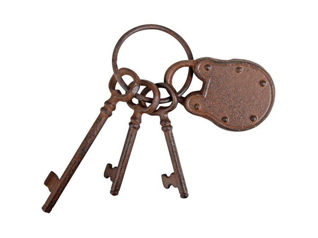 Litinové klíče dekorativní 3ks
