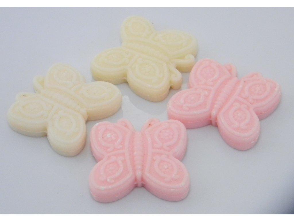 Mýdlo z ovčího mléka s esencí ve tvaru motýlka bílé