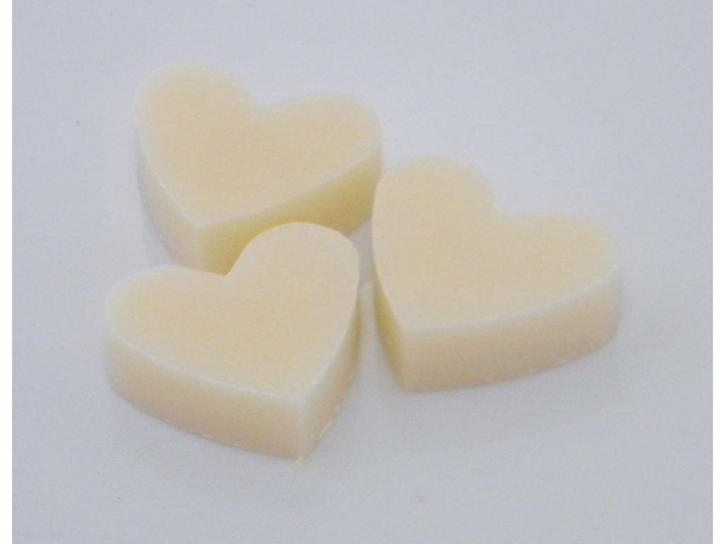 Mýdlo z ovčího mléka ve tvaru srdíčka 5cm BÍLÉ