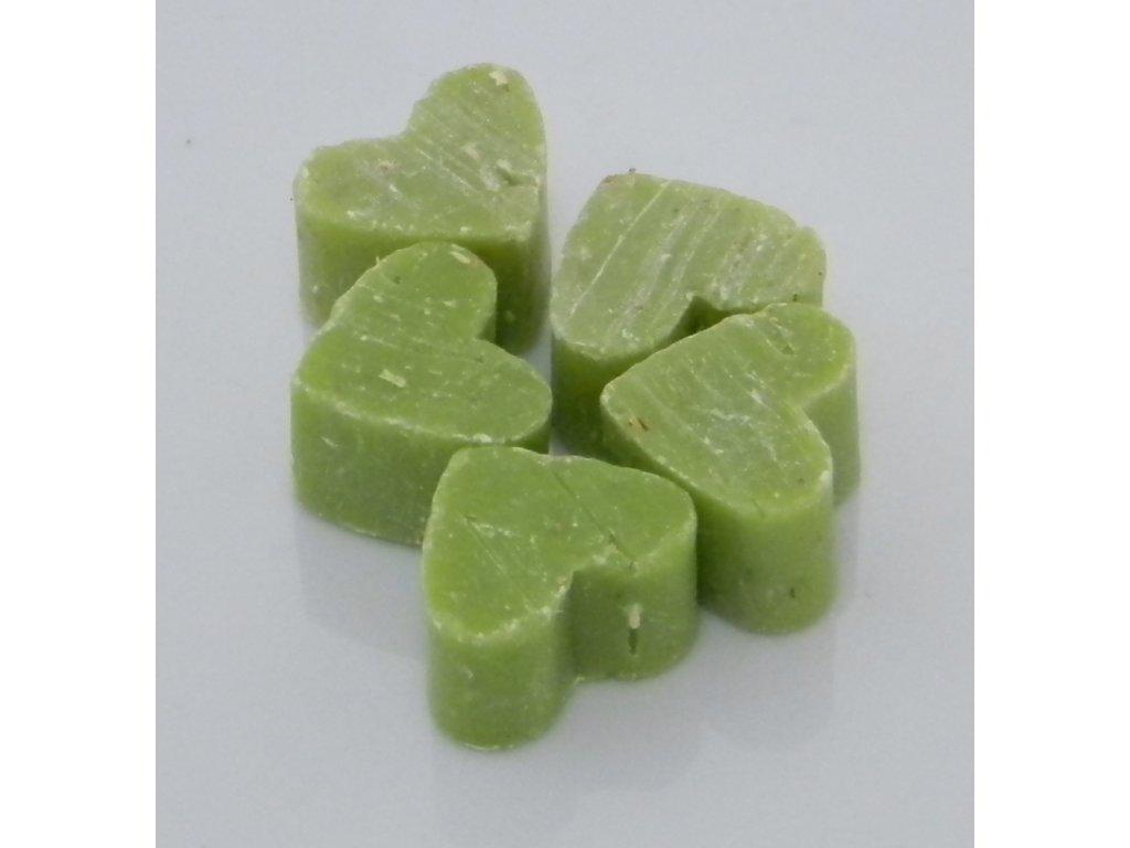 Mýdlo z ovčího mléka zelené ve tvaru srdíčka set 3ks