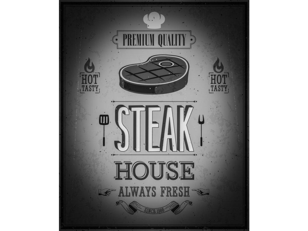 Deska Steak House Black and White 30x40 cm