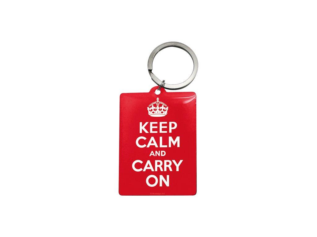 Klíčenka 4x6 cm Keep Calm