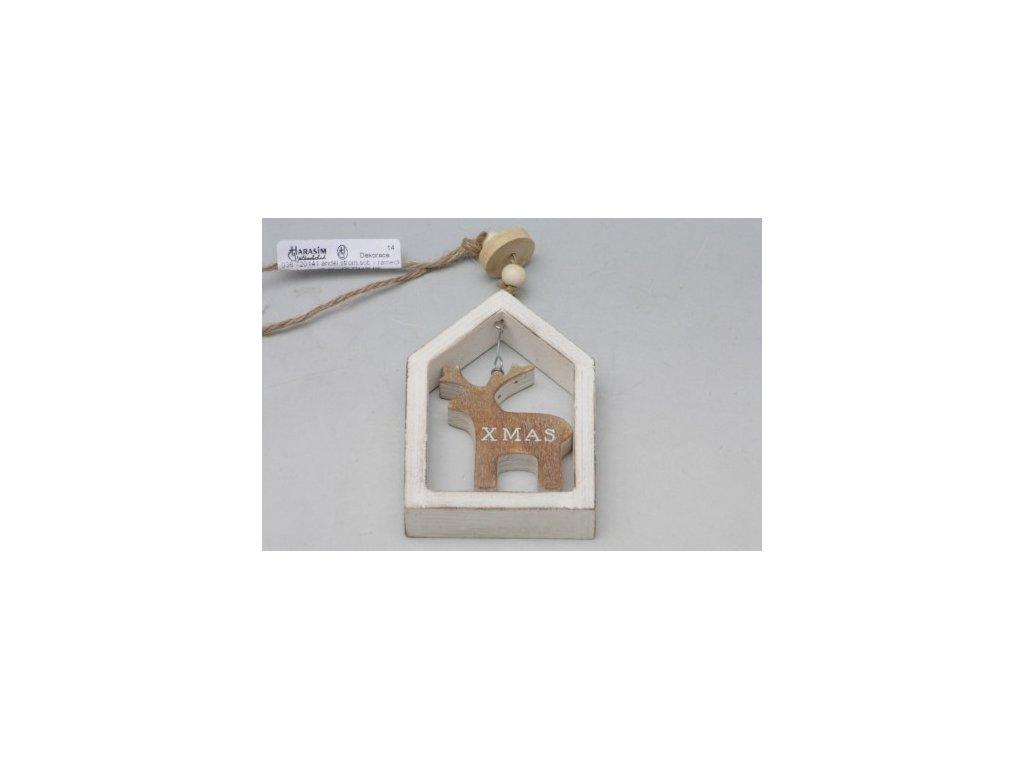 Vánoční dekorace v rámečku bílá (S motivem stromek)