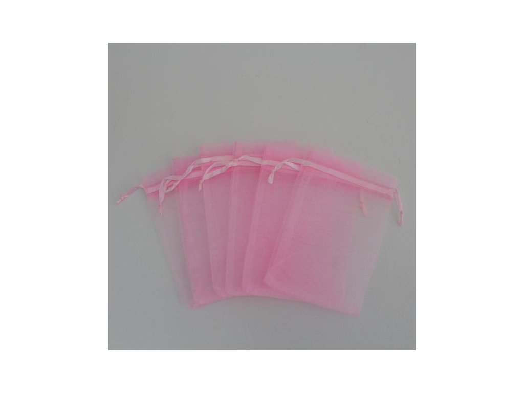 Sáček na vonnou směs růžový 12x17cm