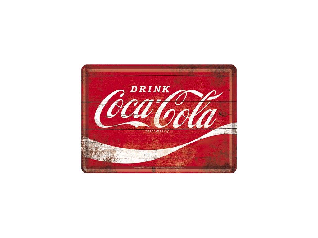 Plechová pohlednice Drink Cola 14x10cm
