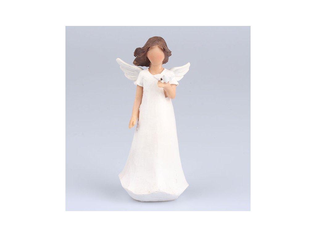 Anděl s motýlem 14cm