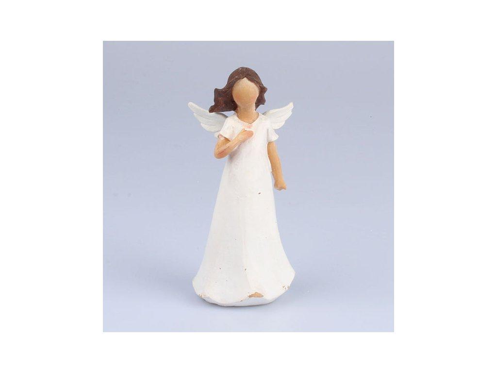 Anděl s dlaní na hrudi 14cm