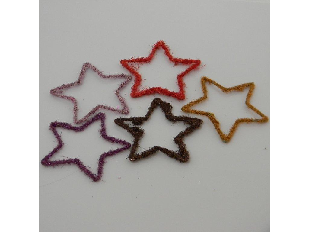 Hvězda filc světle fialová 8cm