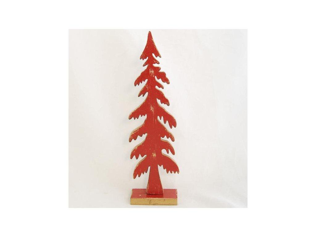 vánoční stromeček | dřevěný | červený