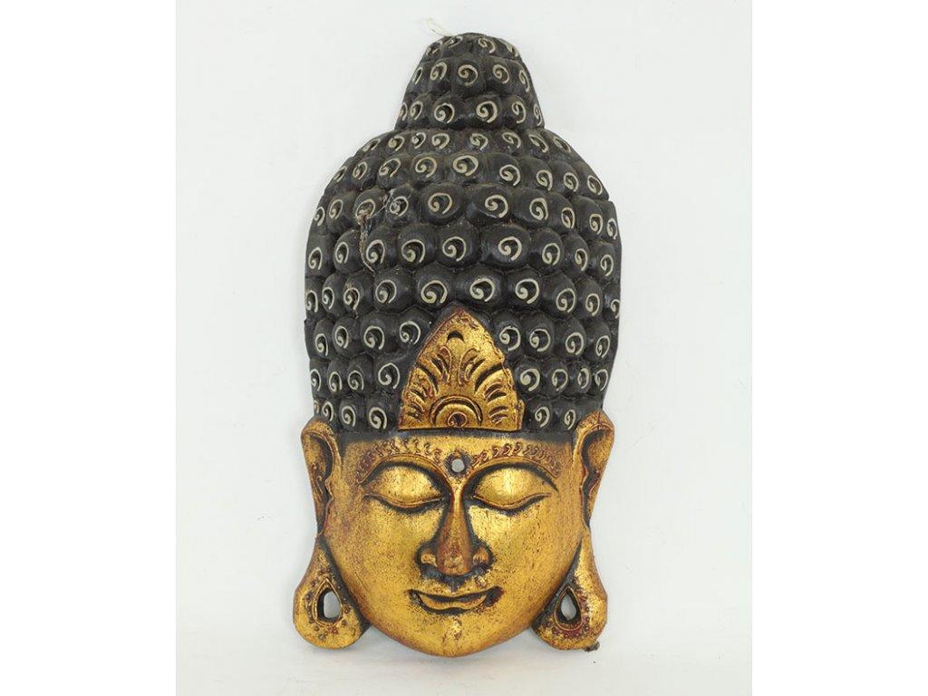 Budha maska dřevořezba 10x20x40cm - VESELÁ ŽENA.cz 86294d1362