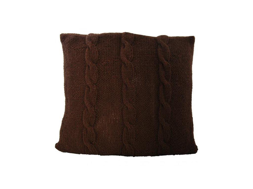 Polštář | Brown | pletený | 40x40cm