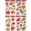 Okenní fólie barevné podzimní listy 30x20cm set 4ks