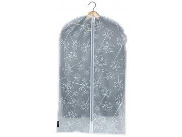 Ochranný obal na oblek s uzavíráním na zip s květinami