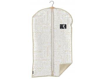 Ochranný obal na oblek s uzavíráním na zip béžový