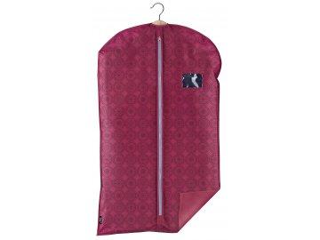 Ochranný obal na oblek s uzavíráním na zip růžový