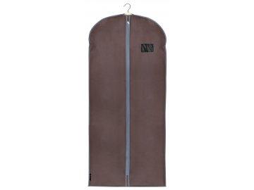 Ochranný obal na šaty s uzavíráním na zip hnědý
