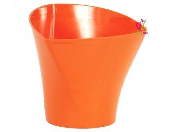 Oranžový plastový obal na květiny 17x15,6cm