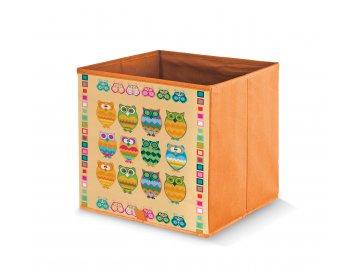 Úložný box s motivem sov