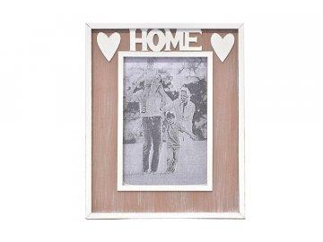 Dřevěný fotorámeček Home