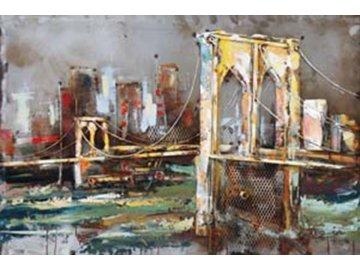 Obraz ručně malovaný | kovový | Brooklin